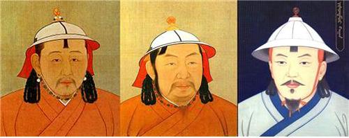 ▲ 왼쪽부터 무종 - 인종 - 태정제(원대 그림). ⓒ김운회