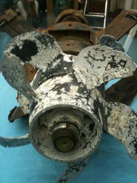 ▲ 2010년 당시 서해에서 수거한 어뢰 잔해 ⓒ프레시안(김하영)