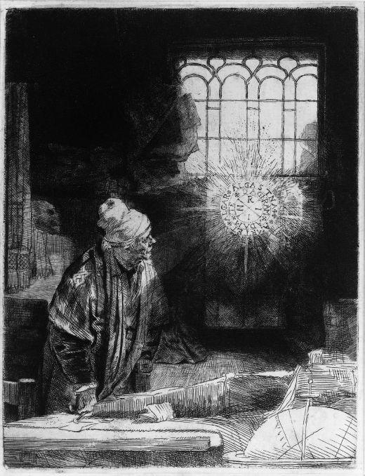 ▲ 렘브란트 하르먼스 판 레인의 <파우스트 />(1650년 경). ⓒwikipaintings
