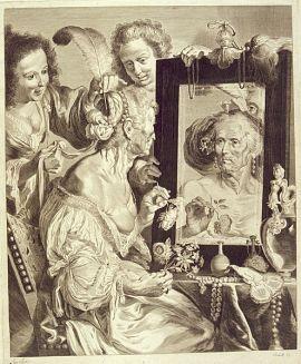 ▲ 예레미아스 팔크의 <거울을 보는 늙은 여인 />(1656년 경). ⓒWikimedia Commons