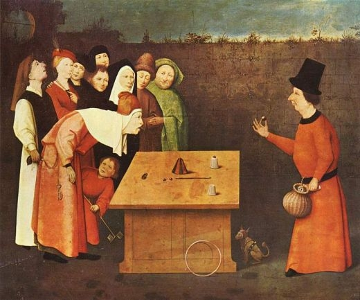 ▲ 히에로니무스 보쉬의 16세기 초 그림 <마법사 />. ⓒWikimedia Commons