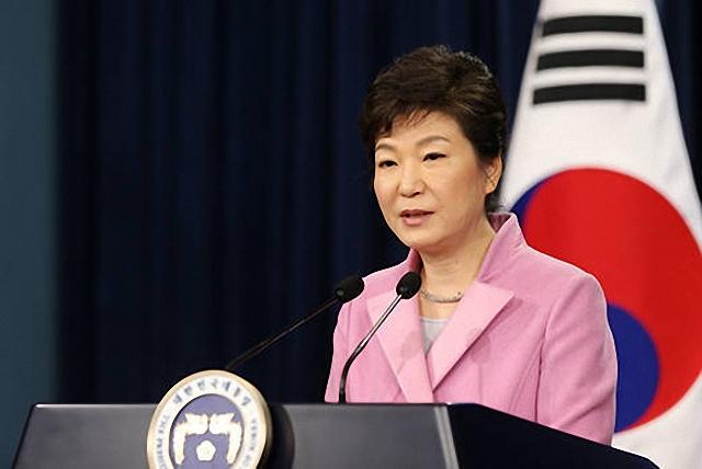 ▲ 지난 1월 6일 신년 기자회견에서 '통일대박'을 언급한 박근혜 대통령 ⓒ청와대