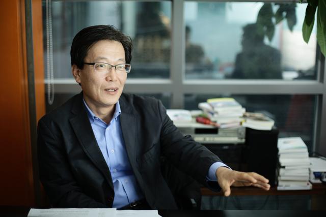 ▲최상재 전 언론노조위원장. ⓒ프레시안(최형락)