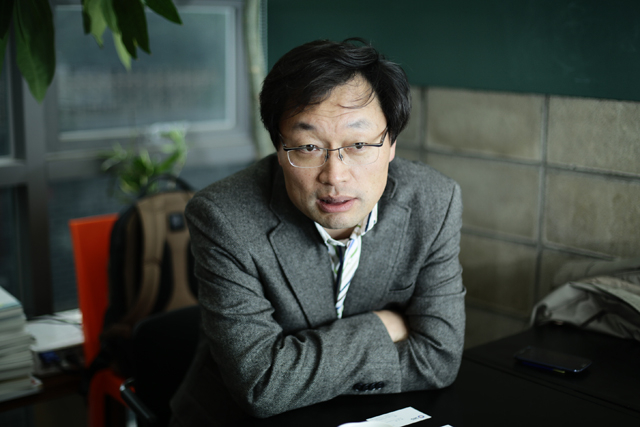 ▲김신동 한림대학교 교수. ⓒ프레시안(최형락)